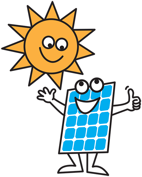 Ausave solar man - thumbs up!